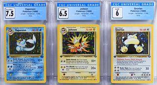 3PC 1999 Pokemon Jungle 1st Ed CGC Holo Card Group
