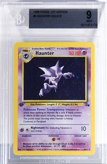 1999 Pokemon Fossil 1st Ed. Haunter BGS 9