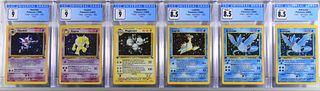6PC 1999 Pokemon Fossil 1st Ed Holo CGC Card Group