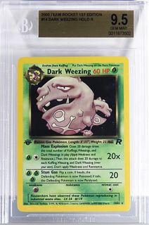 Pokemon Team Rocket 1st Ed. Dark Weezing BGS 9.5