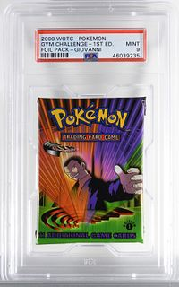 2000 Pokemon Gym Challenge 1st Ed Foil Pack PSA 9