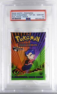 2000 Pokemon Gym Challenge 1st Ed Foil Pack PSA 10