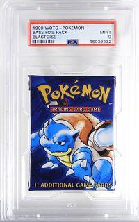 1999 WOTC Pokemon Blastoise Base Foil Pack PSA 9