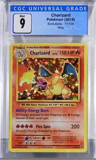 2016 Pokemon Evolutions Charizard Holo CGC 9
