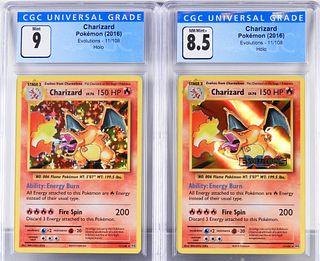 2PC 2016 Pokemon Evolutions Charizard CGC 9 8.5