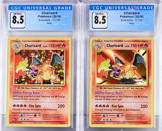 2PC 2016 Pokemon Evolutions Charizard CGC 8.5