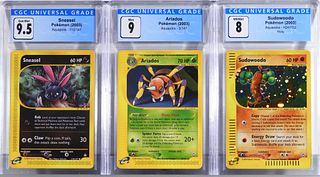 3PC Pokemon Aquapolis CGC Trading Card Group