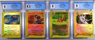 4PC 2003 Pokemon Aquapolis Reverse Holo CGC Cards