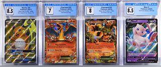 4PC Pokemon EX GX V Black Star Promo CGC Group