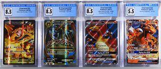 4PC Pokemon Black Star Promo Charizard EX GX CGC