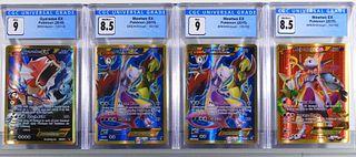4PC Pokemon Gyarados Mewtwo EX CGC Card Group
