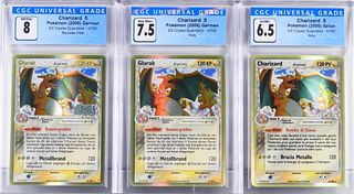 3PC 2006 EX Crystal Guardians Charizard CGC Group