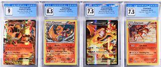 4PC Pokemon Charizard CGC Trading Card Collection
