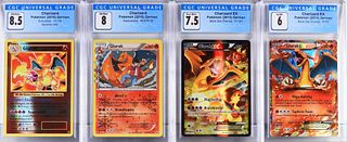 4PC German Pokemon Glurak Charizard CGC Card Group