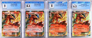 4PC Pokemon Charizard EX CGC Trading Card Group