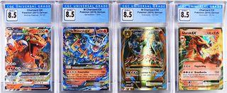 4PC Pokemon Charizard EX GX CGC Trading Card Group