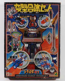 Clover Trider G7 Combination Diecast Chogokin Robo