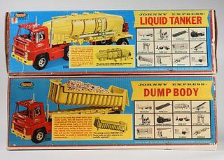 2 1965 Topper Toys Johnny Express Dump Tanker Body