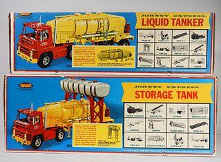 2 Topper Toys Johnny Express Liquid Storage Tanker