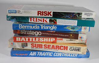 7PC Milton Bradley Parker Bros MISB Game Board Lot