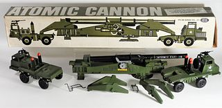 1958 Ideal Toy Corp. Atomic Cannon Army Truck Toy