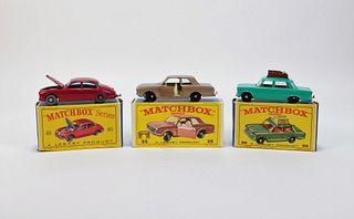 3PC Lesney Matchbox Fiat Jaguar Ford MIB Car Group