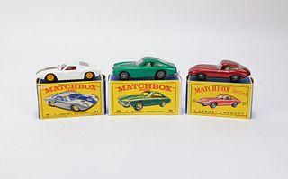 3 Lesney Matchbox Ford GT Jaguar Ferrari MIB Group