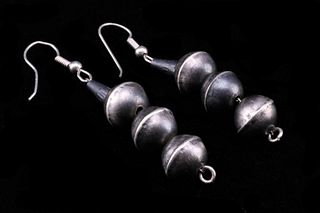 Navajo Gerald Mitchell Sterling Pearl Earring Set