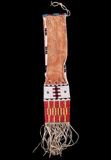 Lakota Sioux Beaded & Quilled Pipe Bag 19th C.