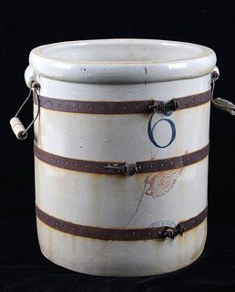 Red Wing Stoneware 6 Gallon Glazed Crock