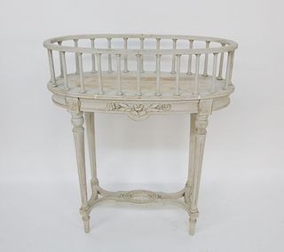 Swedish Louis XVI Style Baluster Gallery Table