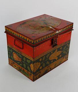 Tony Sarg Hand Painted Lift Top Tin Box