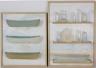 """Two Marc Petrovic Glass Sculptures """"Navigator Series"""" and """"Lifeboat Series"""""""