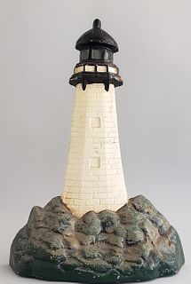 Oversized Cast Iron Lighthouse Doorstop
