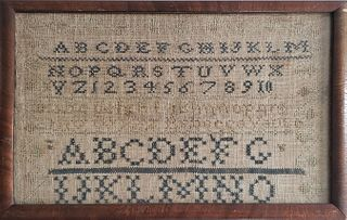 19th Century Needlework Alphabet Sampler