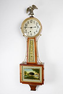 E. Ingraham Clock Co., Bristol, Connecticut Banjo Clock, 19th century