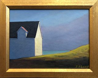 "Joan Albaugh Oil on Canvas Board ""Approaching Storm"""