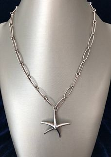 Tiffany & Co. Elsa Peretti Sterling Silver Starfish Necklace