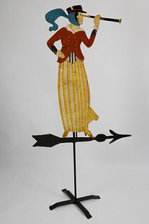 Decorated Cut Metal Captain's Wife Directional, Contemporary