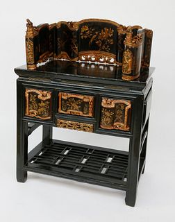 Chinese Gilt Decorated Shrine Table, circa 1870