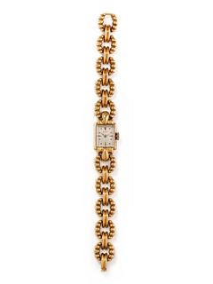 GÜBELIN, 18K YELLOW GOLD WRISTWATCH
