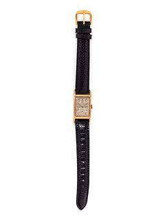 LONGINES, 14K YELLOW GOLD AND DIAMOND WRISTWATCH