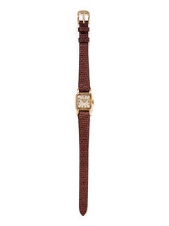 JAEGER-LeCOULTRE, 18K YELLOW GOLD WRISTWATCH