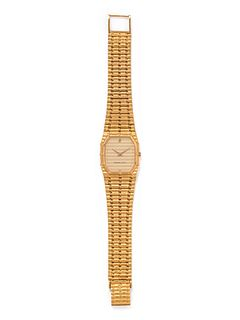 AUDEMARS PIGUET, 18K YELLOW GOLD 'BAMBOO' WRISTWATCH