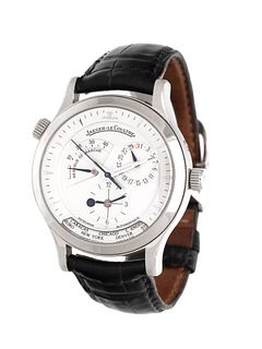 JAEGER-LeCOULTRE, STAINLESS STEEL REF. 142.8.92 'MASTER CONTROL' WORLD TIME WRISTWATCH