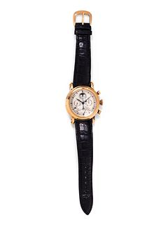 FRANCK MULLER, 18K PINK GOLD REF. 7000 QP E LIMITED EDITION PERPETUAL CALENDAR MOONPHASE CHRONOGRAPH WRISTWATCH
