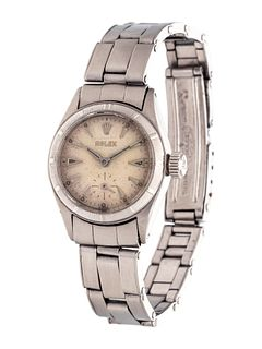 ROLEX, STAINLESS STEEL REF. 6505 WRISTWATCH