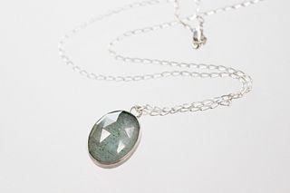 Janus Pendant with Aquamarine