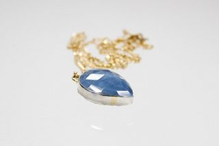 Janus Pendant with Blue Opal