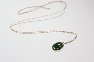 Janus Pendant with Jade